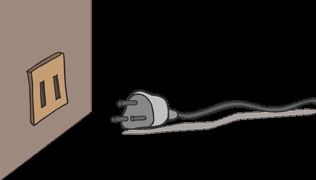 kreslená zástrčka