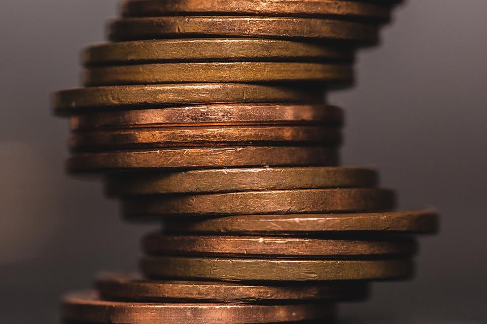 poskládané mince